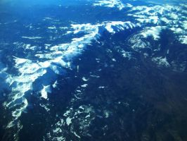 The Rockies from Above by Fl33tingshadoW