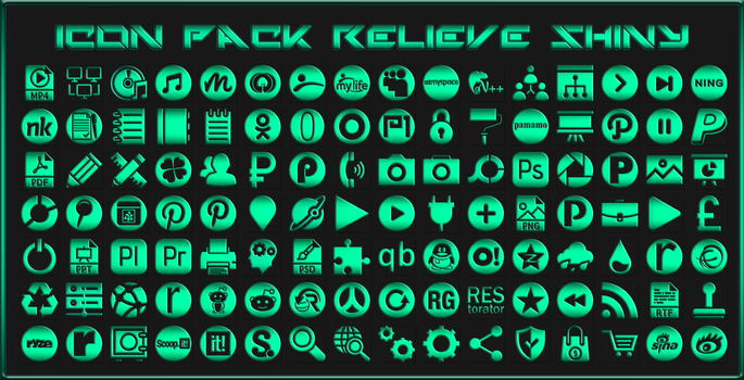 Icon Pack Relieve Shiny by Agelyk by Agelyk