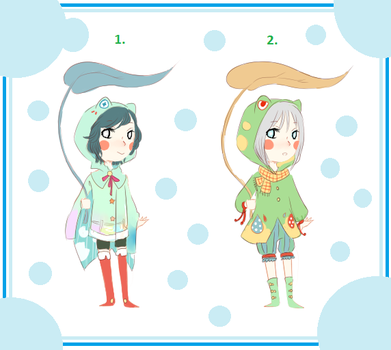 Rainy Frog Hoodies Adopt OPEN by Kemikeni