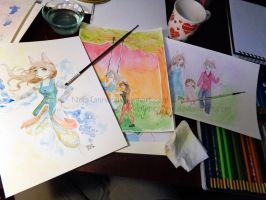 Watercolor Gifts by NinjaTanner