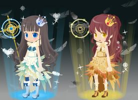 Dream Selfy Free Adopts: Celestial Girls (closed) by SeitoAnna