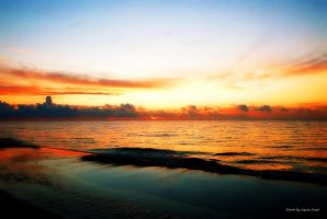 Sunset on the Baltic Sea by AgataSwat