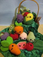 Kawaii Fruits and Veggies by NerdyKnitterDesigns