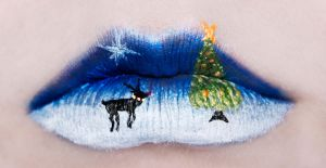 Christmas Lips by KatieAlves