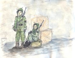 soldiers on guard by Yetska