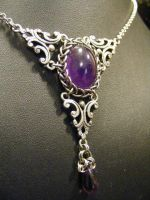 Persian Framed Amethyst by BacktoEarthCreations