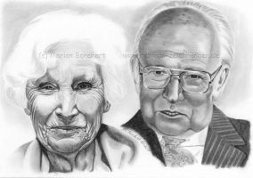 Old couple II by WitchiArt