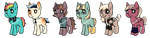pony adoptables! (20 points each!) by aeroaddict