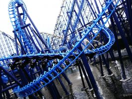 Blue Rollarcoaster 4185555 by StockProject1