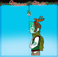 Mistletoe Meme: Ricooo by SharkMate