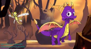 Spyro and Sparx by sapphire3690