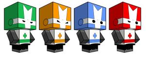 Castle Crashers Cubees by sixtimesnine