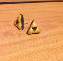 Triforce Earrings by MiniMushies