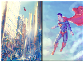Morning in Metropolis sketches by cinemamind