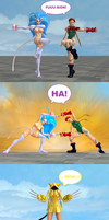 Felicia and Cammy: Fusion Dance! by NekoHybrid