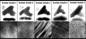 Gimp texture brush set 1 by Jagged88