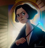 Tina Goldstein ( Fantastic Beasts fanart) by tropicalraccoon