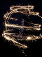 Bellydance Light Painting by Mahafsoun