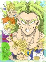 Broly and Z-Fighters by JP-V