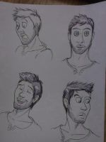 Nathan Drake's Expressions by InvaderSonicMx