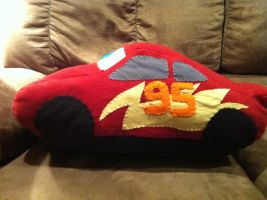Lightning McQueen plush- left side by bonniea423