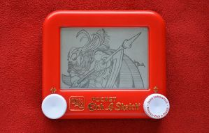 Magus Chrono Trigger Etch A Sketch by pikajane