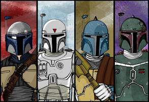 Boba Fett: different versions by AraxussYexyr
