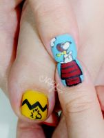 Snoopy NailArt Detail by natsy-alencar