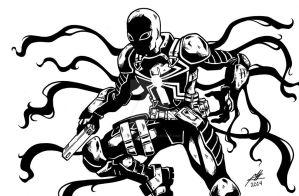 Agent Venom Line Art (Scanned) by GumbocRafael