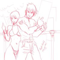 rough sketch in oc by fleng