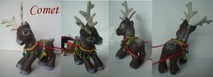 My little Pony Custom G3 Comet the reindeer pics by BerryMouse