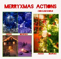Actions - Merry Xmas by CoralineWorld