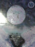 Spray Paint Planet and Moon 2 by EmiMagick