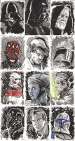 Star Wars Inkwash Cards by tedwoodsart