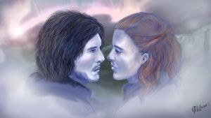 Jon and Ygritte, now together by Mitsouken