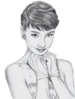 Audrey Hepburn by Mesymes