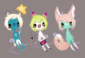 Adoptables auction CLOSED by Bonelo