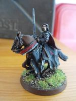 Aragorn King Elessar mounted commision by Flippotycoon