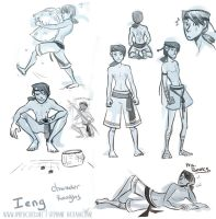 Ieng Character Roughs by MarionetteDolly