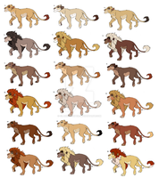 Lioness and Lion Adopts (GONE) by Claire-Cooper