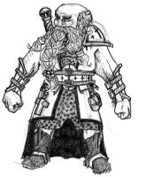 Ishac the Dwarven Cleric by ayrron