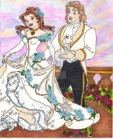 Belle and Prince Adam's Wedding Day by TDWendella