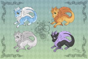 [Closed] Adoptables: Chinese Dragons by MySweetQueen