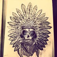 tribal skull by Joeymarsbar