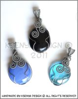 Blue Black trio by KsenyaDesign