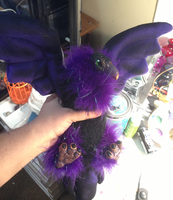 Fully Posable Purple Vulture Art Doll by omfgitsbutter