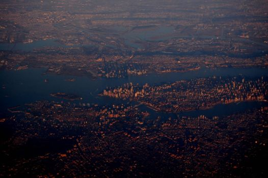 NYC from 40,000 Feet by trintrin918