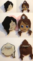 Tahno and Korra Pins by MotherMcKarther