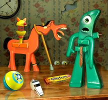 Gumby and Pokey by funkwood