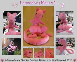 Legendary Mew Plushie v.1 RAFFLED by SPPlushies